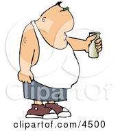 Man Holding Beer Can Clipart