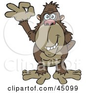 Royalty Free RF Clipart Illustration Of A Happy Ape Gesturing The A Ok Sign by Dennis Holmes Designs
