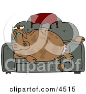 Couch Potato Cow Clipart