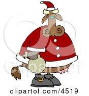 Santa Cow Clipart