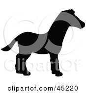Royalty Free RF Clipart Illustration Of A Profiled Black Zebra Silhouette by JR