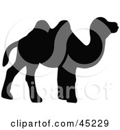 Royalty Free RF Clipart Illustration Of A Profiled Black Camel Silhouette by JR
