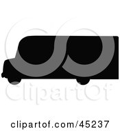 Royalty Free RF Clipart Illustration Of A Profiled Black Delivery Van Silhouette