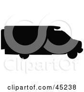 Royalty Free RF Clipart Illustration Of A Profiled Black RV Silhouette