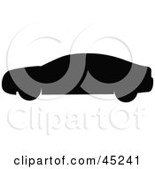 Royalty Free RF Clipart Illustration Of A Profiled Black Car Silhouette