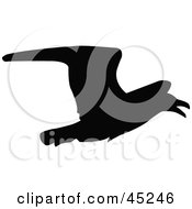 Royalty Free RF Clipart Illustration Of A Profiled Black Crow Silhouette by JR