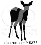 Royalty Free RF Clipart Illustration Of A Profiled Black Doe Silhouette
