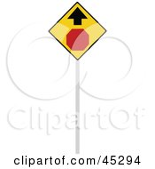 Stop Ahead Sign With An Arrow