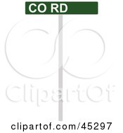 Royalty Free RF Clipart Illustration Of A Green And White CO RD Street Sign by JR