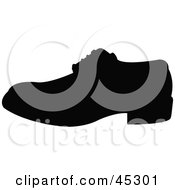 Profiled Black Shoe Silhouette