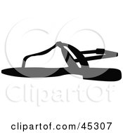 Profiled Black Strappy Sandal Shoe Silhouette