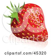 Fresh And Shiny Red Strawberry