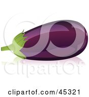 Royalty Free RF Clipart Illustration Of A Shiny Organic Purple Eggplant