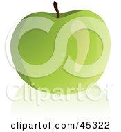 Fresh And Shiny Granny Smith Apple