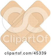 Royalty Free RF Clipart Illustration Of A Cross Of Bandages