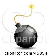 Shiny Lit Black Bomb