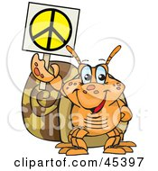 Peaceful Snail Holding A Peace Sign