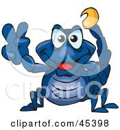 Royalty Free RF Clipart Illustration Of A Peaceful Scorpion Gesturing The Peace Sign