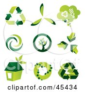 Royalty Free RF Clipart Illustration Of A Digital Collage Of Green Eco Icons by TA Images