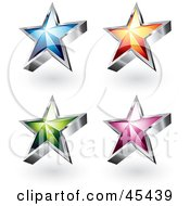Royalty Free RF Clipart Illustration Of A Digital Collage Of Colorful Star Icons by TA Images