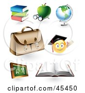 Royalty Free RF Clipart Illustration Of A Digital Collage Of Educational Icons by TA Images