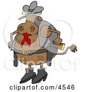 Cowboy Cow Clipart