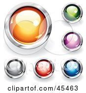 Royalty Free RF Clipart Illustration Of A Digital Collage Of Reflective Round Web Buttons by TA Images