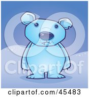 Royalty Free RF Clipart Illustration Of A Lone Polar Bear Standing Up In The Arctic by John Schwegel