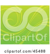 Royalty Free RF Clipart Illustration Of A Green Background With Organic Curling Vines