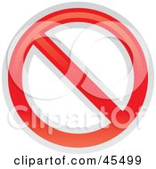 Royalty Free RF Clipart Illustration Of A Prohibited Restriction Sign by John Schwegel #COLLC45499-0127