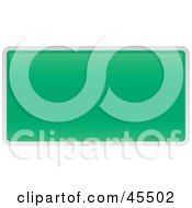 Royalty Free RF Clipart Illustration Of A Blank Green Interstate Exit Sign