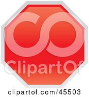 Royalty Free RF Clipart Illustration Of A Blank Red Stop Sign With A White Border
