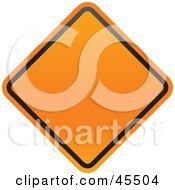 Royalty Free RF Clipart Illustration Of A Blank Orange Diamond Shaped Construction Zone Sign