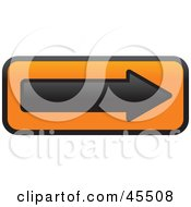 Royalty Free RF Clipart Illustration Of A Black And Orange One Way Street Arrow Sign by John Schwegel