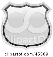 Royalty Free RF Clipart Illustration Of A Blank White Route Highway Sign