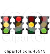 Royalty Free RF Clipart Illustration Of A Digital Collage Of Street Lights
