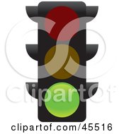 Royalty Free RF Clipart Illustration Of A Green Street Light