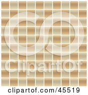 Royalty Free RF Clipart Illustration Of A Tan And Brown Tile Pattern Background