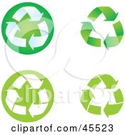 Royalty Free RF Clipart Illustration Of A Digital Collage Of Green And White Recycle Arrows