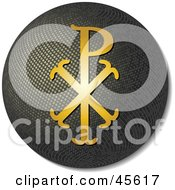 Royalty Free RF Clipart Illustration Of A Golden Chi Rho Design On A 3d Globe