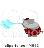 Anthropomorphic Elephant Pressure Wash Concept Clipart
