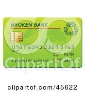 Green Broken Bank Credit Card