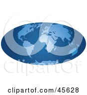 Royalty Free RF Clipart Illustration Of A Blue Grid Hammer Projection Map