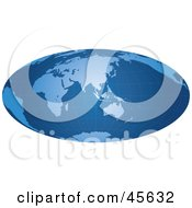 Royalty Free RF Clipart Illustration Of A Blue Hammer Projection Map With A Grid