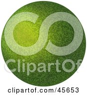 Royalty Free RF Clipart Illustration Of A Green 3d Sphere Or Globe On A White Background