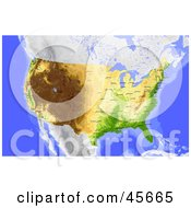 Royalty Free RF Clipart Illustration Of A Shaded Contour Map Of The United States And Surrounding Oceans by Michael Schmeling #COLLC45665-0128