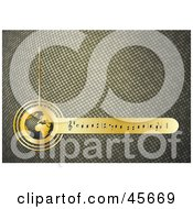 Royalty Free RF Clipart Illustration Of A Textured Golden Music Background With Notes And A Globe