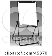 Royalty Free RF Clipart Illustration Of A Blank Piece Of Paper On An Office Easel