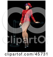 Royalty Free RF Clipart Illustration Of A Sexy Usher Pinup Woman In A Red Uniform