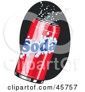 Royalty Free RF Clipart Illustration Of A Fizzy Red Can Of Soda Pop by r formidable